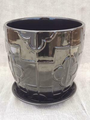 18cm BLK Ceramic Pot