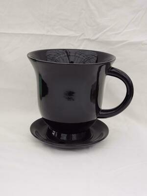 18cm BLK Ceramic Tea Pot