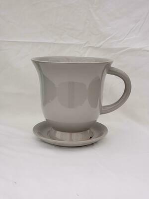 18cm GRY Ceramic Tea Pot