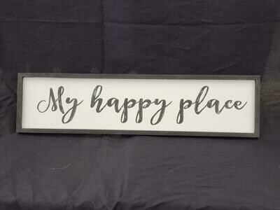My Happy Place Wall Art