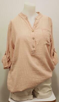 PNK 3/4 Sleeve Linen Shirt