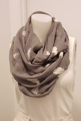 GRY Feather Scarf