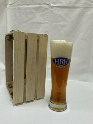 Weizenglas mit HBH Logo
