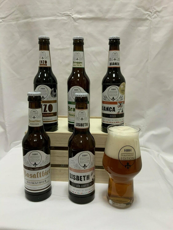 5er Set inkl. Craft Beer Glas