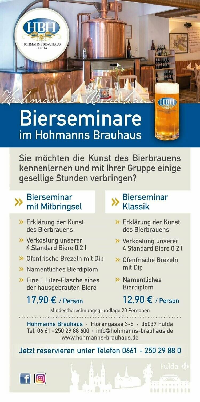 Gutschein für Bierseminar mit Mitbringsel