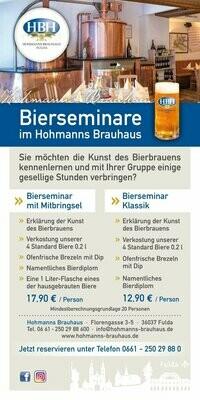 Gutschein für Bierseminar Klassik