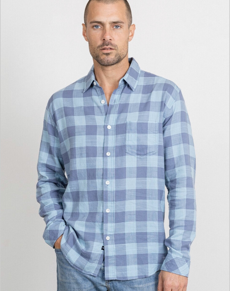 Rails, Wyatt Button Down, Teal Blue