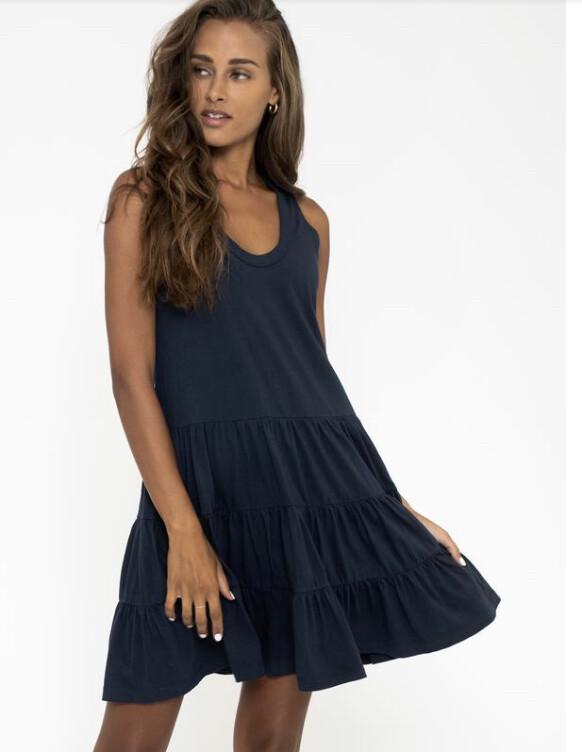 Sol Angeles, Tiered Dress, Indigo