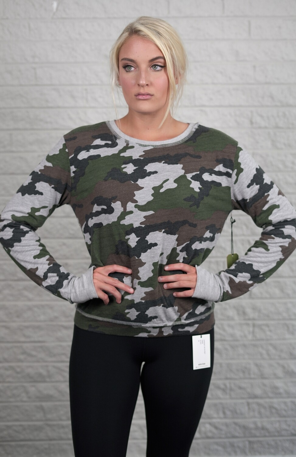R&R Surplus, Camo Lined Sweatshirt