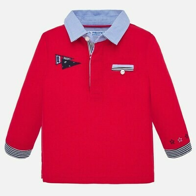 Mayoral Boys Long-Sleeved Polo Shirt (1154)