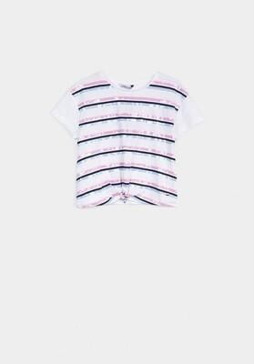 Tiffosi Girls Front Knot Tshirt