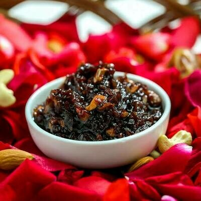 Fasli Gulkand - Sun Dried - Chaitram Period Rose Petals & Sugar