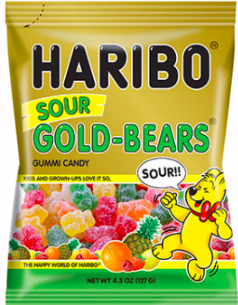 Haribo - Sour Gold Bears