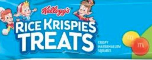 Rice Krispies Treats with M&M's mini