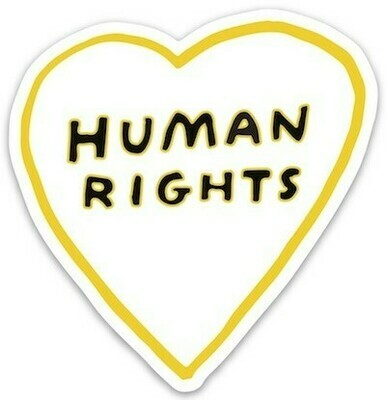 Die Cut Sticker - Human Rights Heart