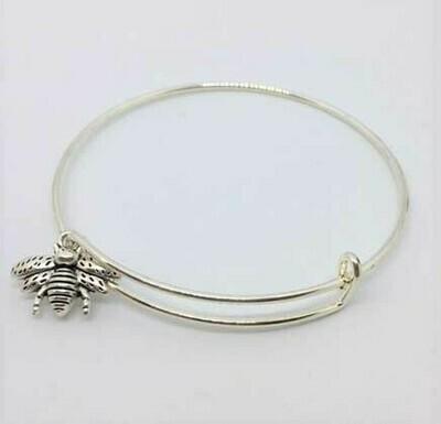 Bee Charm Adjustable Bracelet