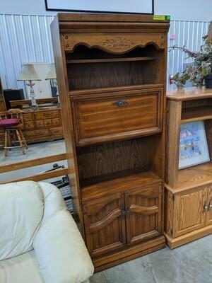 Oak Secretary Bookcase #1051