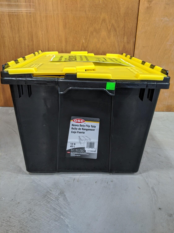 New Black & Yellow Storage Bin #1086