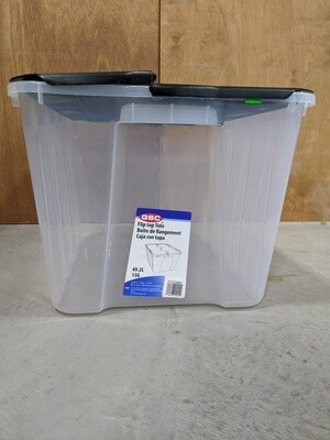 New Clear & Black Storage Bin #1087