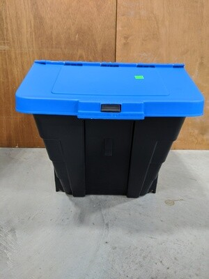 Black/Blue Plastic Storage Bin #1092