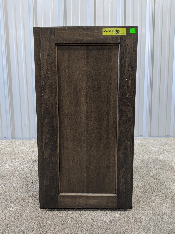 """Dark Wood Upper Cabinet 18""""W x 30""""H #1801"""