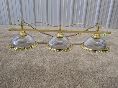 3 Globe Light Brass & Glass! #1819