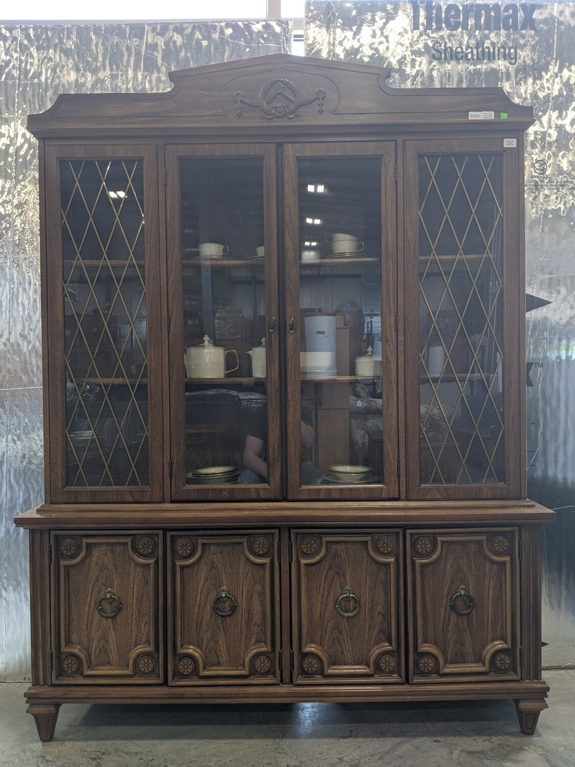 Large Wooden China Hutch #1826