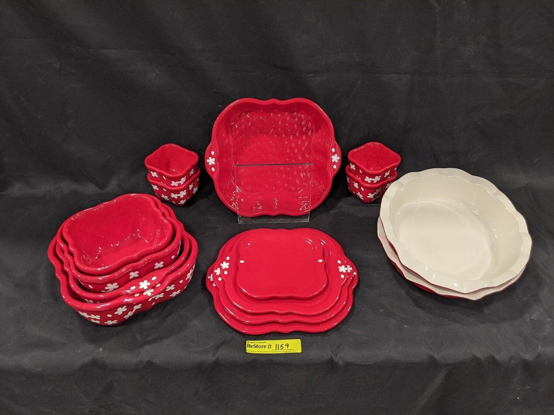 Temp-tations Dish Set 15 piece Dish Set #1159