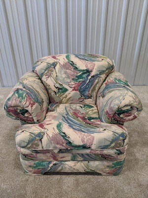 Retro Patterned Chair #1165