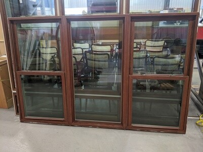 Brown 3 Section Window #1243