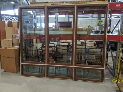 Brown 6 Section Window #1244