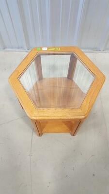 Hexagon End Table #1237