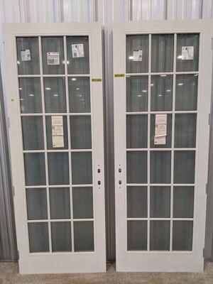 Grey French Door #1481