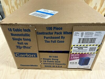 1 Gang Electrical Box Contractor Pack #1499
