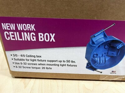 Case of 75  3/0-4/0 Ceiling Box #1502