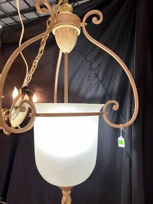 3 Light Glass Chandelier #1530