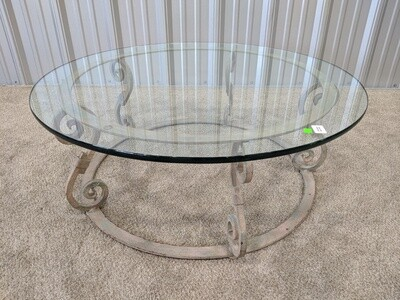 Glass Top Table #1641