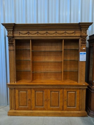Century 2 Piece Hutch with Glass Shelves #1848