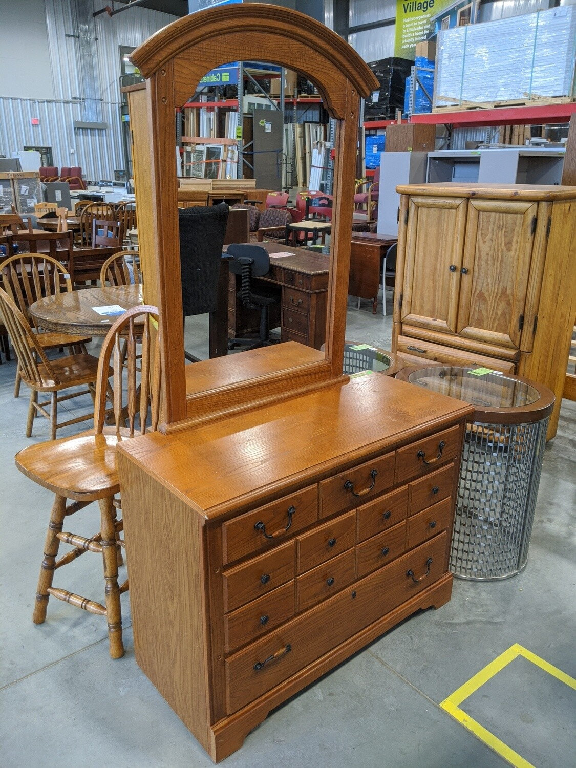 Small Dresser with Mirror #1862