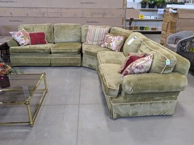 3 Piece Vintage Sectional Sofa #1878