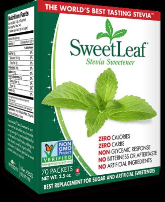 SweetLeaf Stevia     70 Packets