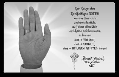 Segensdokument des Schwert-Bischofs