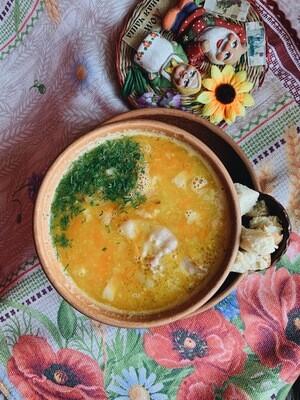 Смачный гороховый суп с копченостями