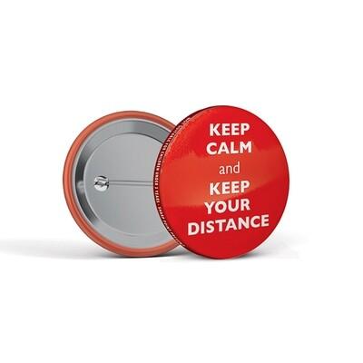 45mm Social Distancing Button Badges Calm