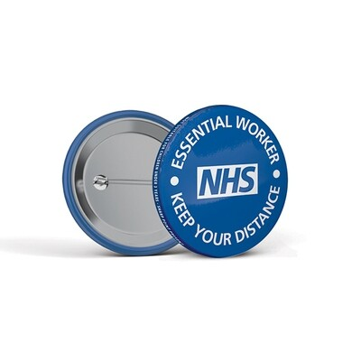 45mm Social Distancing Button Badges NHS