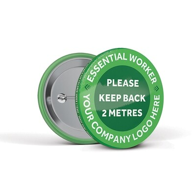 55mm Social Distancing Button Badges Bespoke