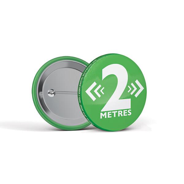 45mm Social Distancing Button Badges 2M