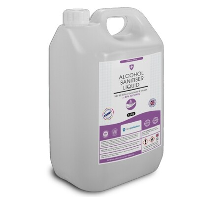 Alcohol Hand Sanitiser Liquid - 5 Litre
