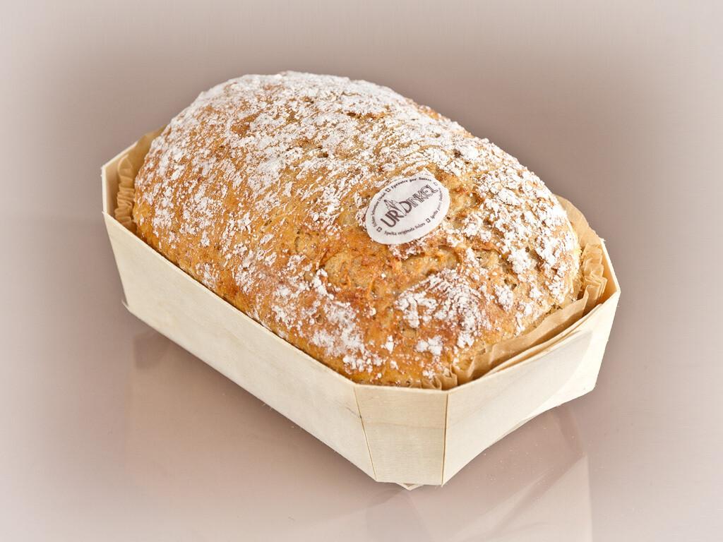 Urdinkel-Brot im Holzchörbli 430gr. (vegan)