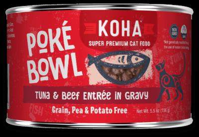 KOHA CAT POKE TUNA/BEEF 5.5oz